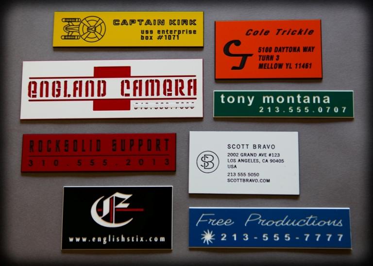 Custom Case Label Samples