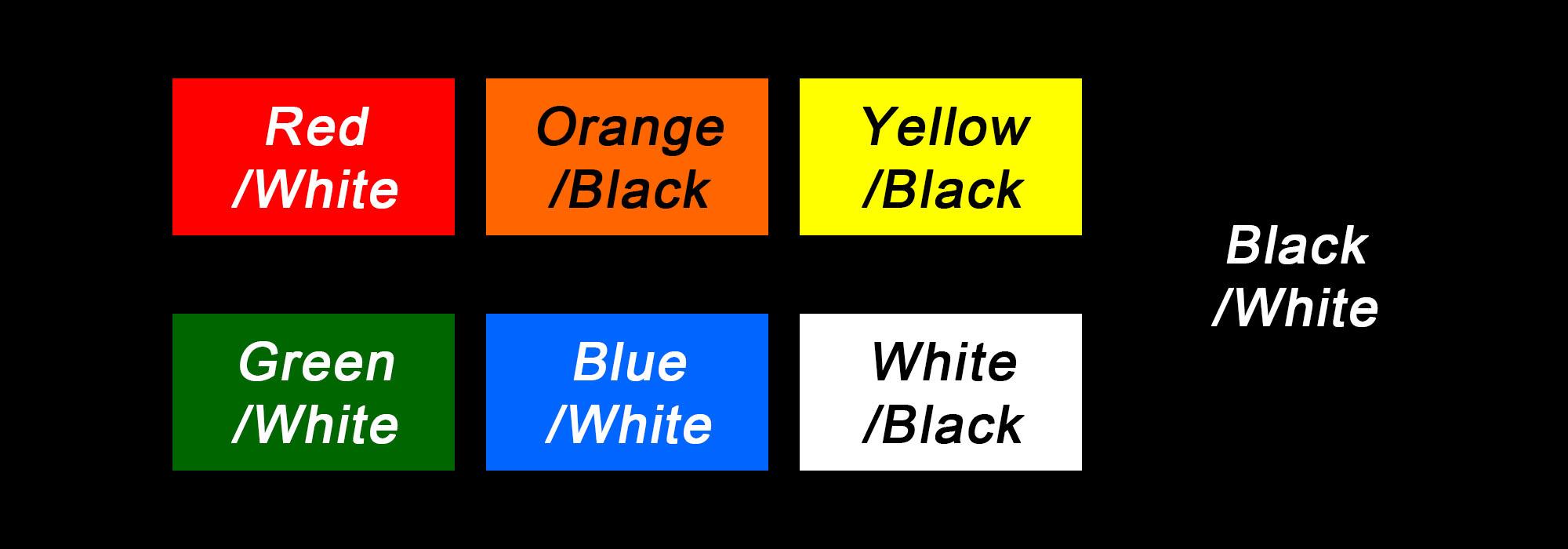Case Label Colors