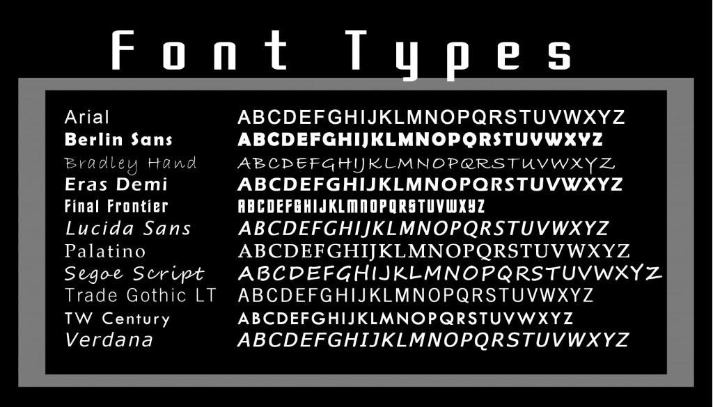 FontTypes