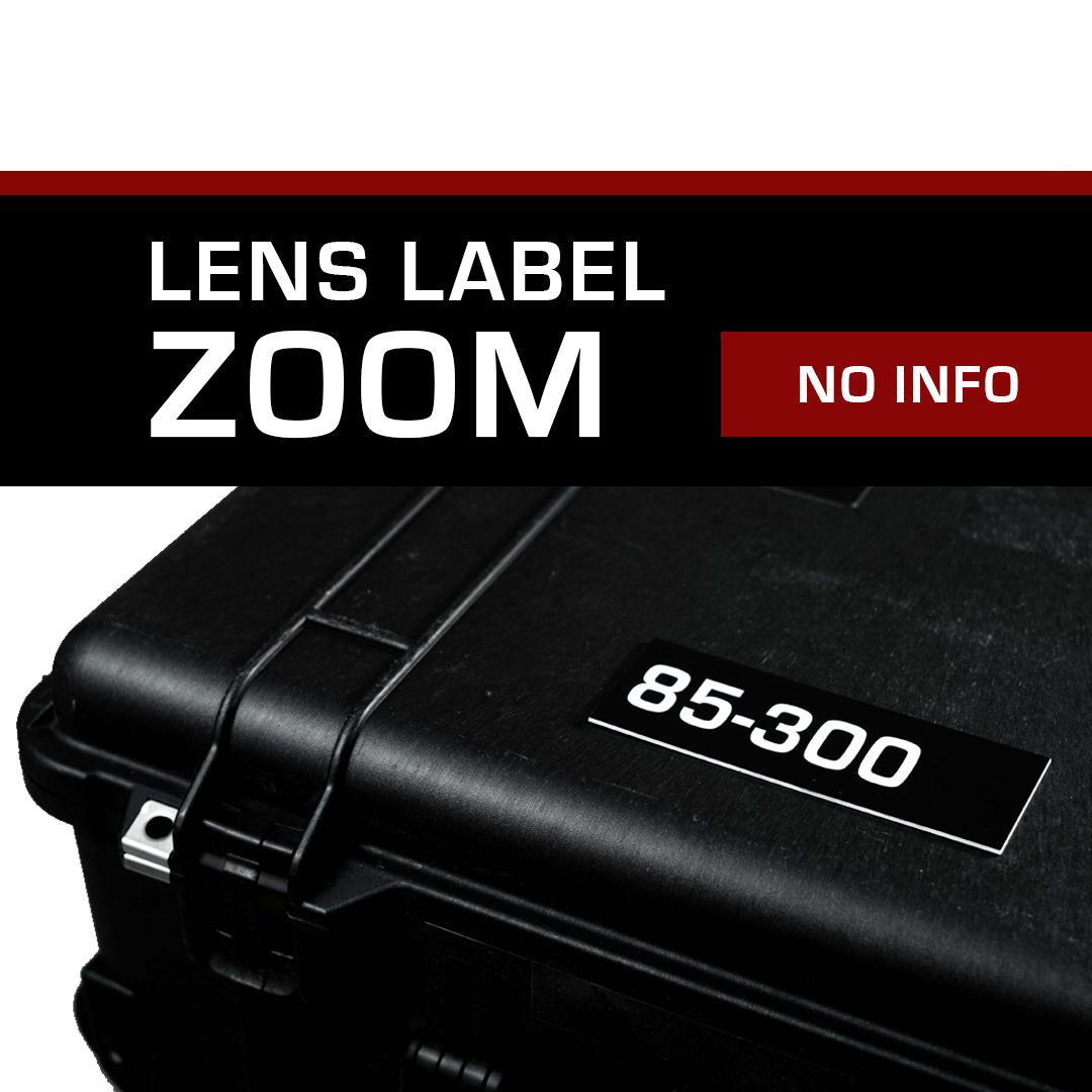 Lens Label – Zoom No Info